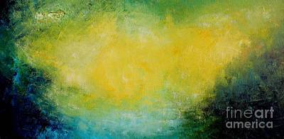 Mike Grubb Wall Art - Painting - Yellow Galaxy by Michael Grubb