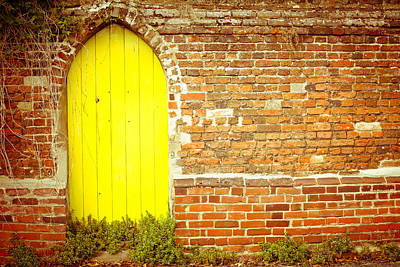 Historic Home Photograph - Yellow Gateway by Tom Gowanlock