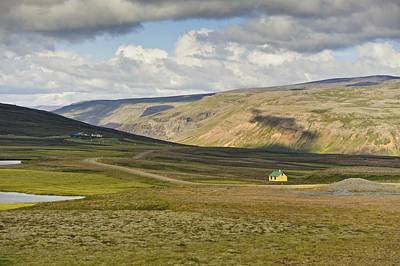Photograph - Yellow House In Iceland Landscape by Marianne Campolongo
