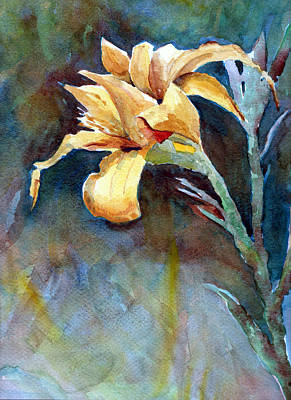Yellow Iris Art Print by Alan Smith