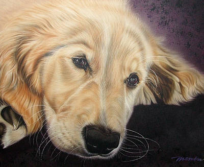 Painting - Yellow Lab by Dan Menta