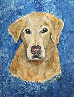 Portrait Painting - Yellow Lab by Paintings by Gretzky