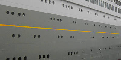 Photograph - Yellow Line Ss Rotterdam by Nop Briex