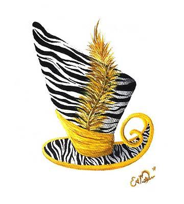 Yellow Magic Hat Art Print by Oddball Art Co by Lizzy Love