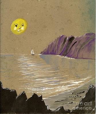 Painting - Yellow Moon Watch by Jessi and James Gault