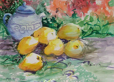 Painting - Yellow Pears by Heidi Patricio-Nadon