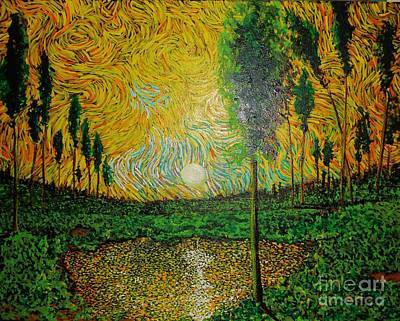 Yellow Pond Art Print