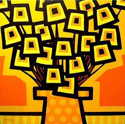 Yellow Poppy Vase Art Print by John  Nolan