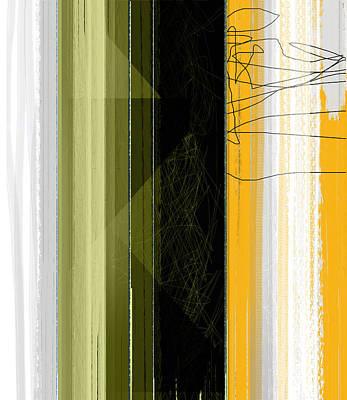Yellow Rain Art Print by Naxart Studio
