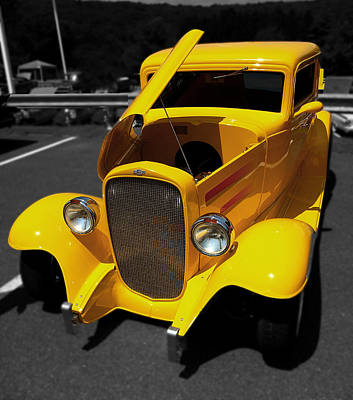 Yellow Rod Art Print