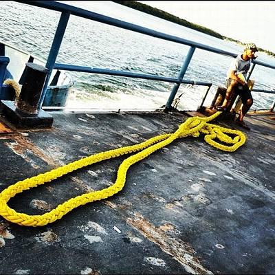 Yellow Rope Art Print