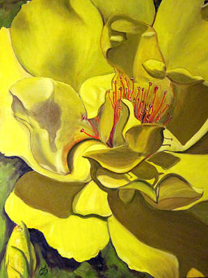 Painting - Yellow Rose For Bette by Claudia Croneberger