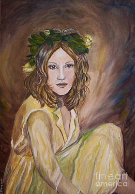 Art Print featuring the painting Yellow Rose by Julie Brugh Riffey