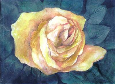 Yellow Rose Of Texas Painting - Yellow Rose Of Texas by Gwendolyn Leigh