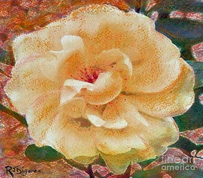 Painting - Yellow Rose by Richard James Digance