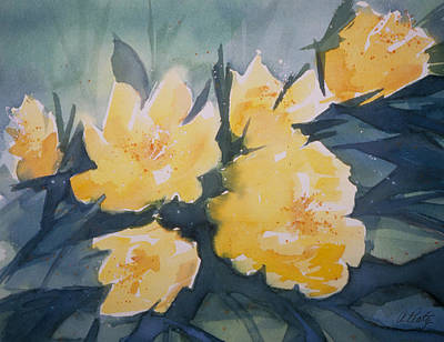Painting - Yellow Roses by Audrey Peaty