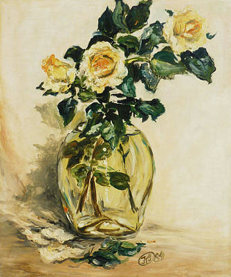 Flower Painting - Yellow Roses by Irek Szelag