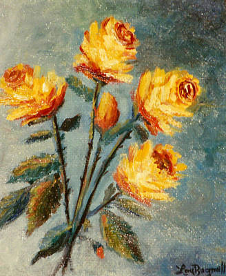 Painting - Yellow Roses by Lou Ann Bagnall