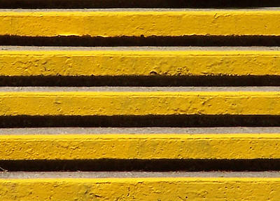 Yellow Steps Art Print by Steven Huszar