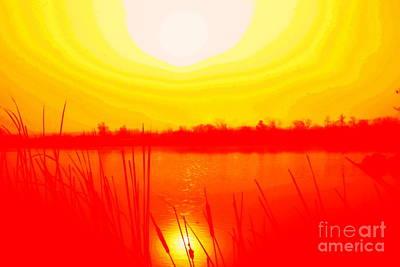 Yellow Tangerine Day Art Print