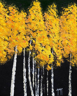 Wine Corks - Yellow Trees by Mauro Celotti