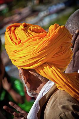 Ashram Wall Art - Photograph - Yellow Turban by John Battaglino