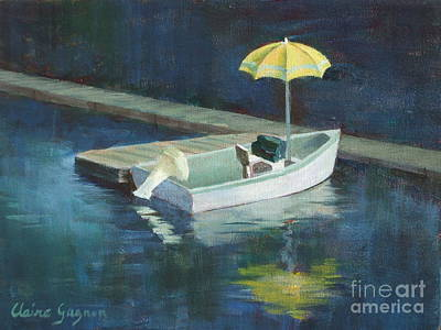 Painting - Yellow Umbrella by Claire Gagnon