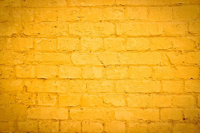Brick Buildings Photograph - Yellow Wall by Tom Gowanlock
