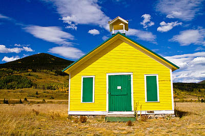 Yellow Western School House Art Print by James BO  Insogna