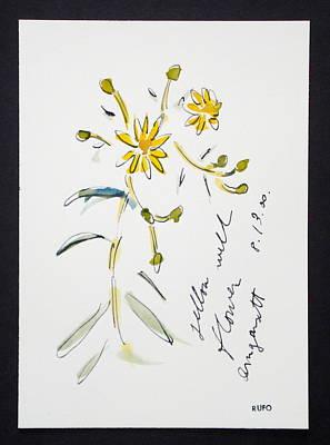 Amagansett Painting - Yellow Wildflower Amagansett by David Rufo