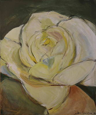 Painting - Yellowish Rose-posthumously Presented Paintings Of Sachi Spohn  by Cliff Spohn