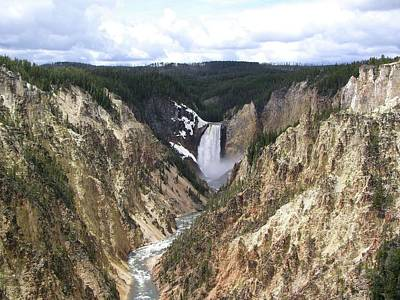Yellowstone Artists Point View Art Print by Sandy L. Kirkner