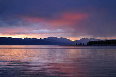 Yellowstone Lake Sunrise IIi Art Print