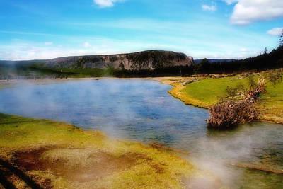 Photograph - Yellowstone Landscape by Ellen Heaverlo