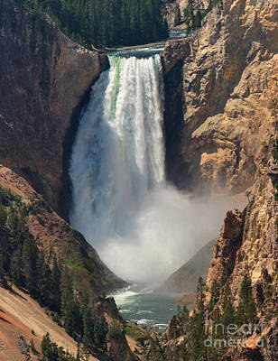 Photograph - Yellowstone Lower Falls Closeup by Charles Kozierok