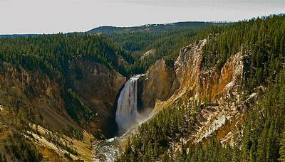 Photograph - Yellowstone Lower Falls by Eric Tressler