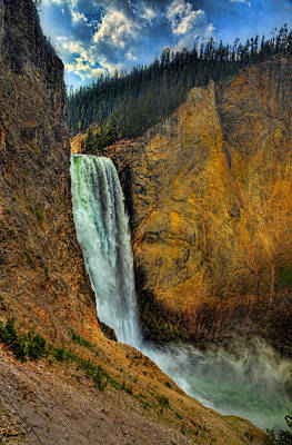 Photograph - Yellowstone Lower Falls Hdr by Ken Smith