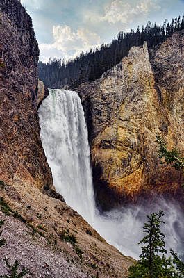 Photograph - Yellowstone Lower Falls by Ken Smith