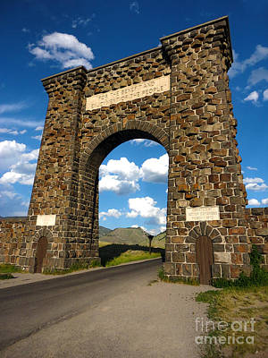 Yellowstone National Park Gate Art Print by Gregory Dyer
