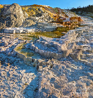 Yellowstone National Park - Mammoth Hot Springs - 02 Art Print by Gregory Dyer