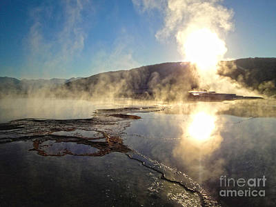 Yellowstone National Park - Minerva Terrace - 02 Print by Gregory Dyer
