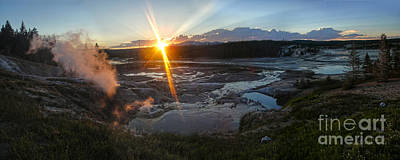 Photograph - Yellowstone Norris Geyser Basin At Sunset - 02 by Gregory Dyer