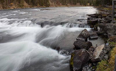 Yellowstone River Rapids Art Print by Twenty Two North Photography
