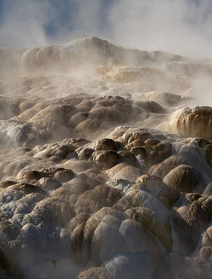 Art Print featuring the photograph Yellowstone Steam by J L Woody Wooden