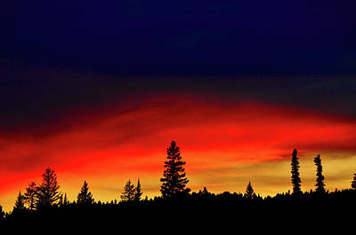 Yellowstone Sunset Art Print by Bill Gracey