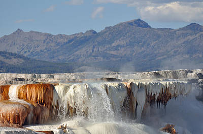 Yellowstone National Park Photograph - Yellowstone's Canary Springs 002 by Bruce Gourley