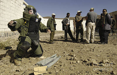 Improvised Explosive Device Photograph - Yemen Explosive Ordnance Disposal Team by Stocktrek Images