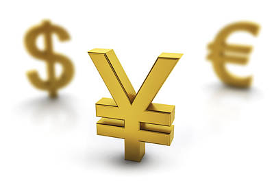 Focus On Foreground Digital Art - Yen Currency Symbol In Focus by Bjorn Holland