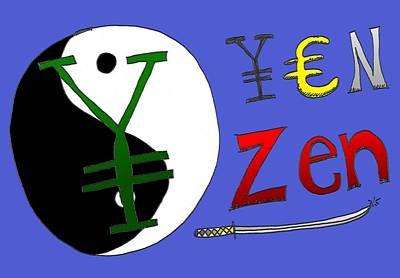 Financial Mixed Media - Yen Zen by OptionsClick BlogArt