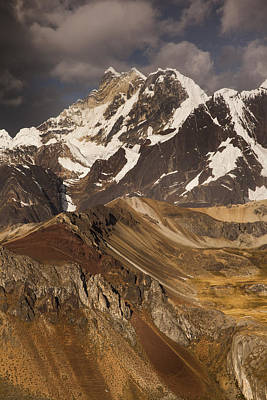 Yerupaja Chico 6121m In Cordillera Print by Colin Monteath